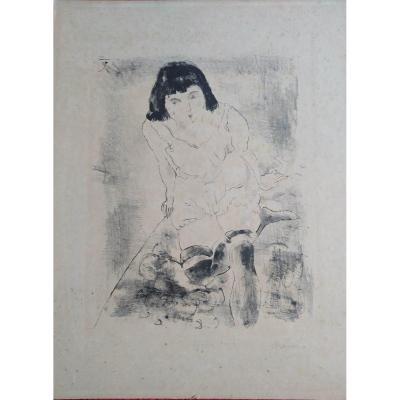 """"""" le lever"""" par Jules Pascin 1885 - 1930 -"""