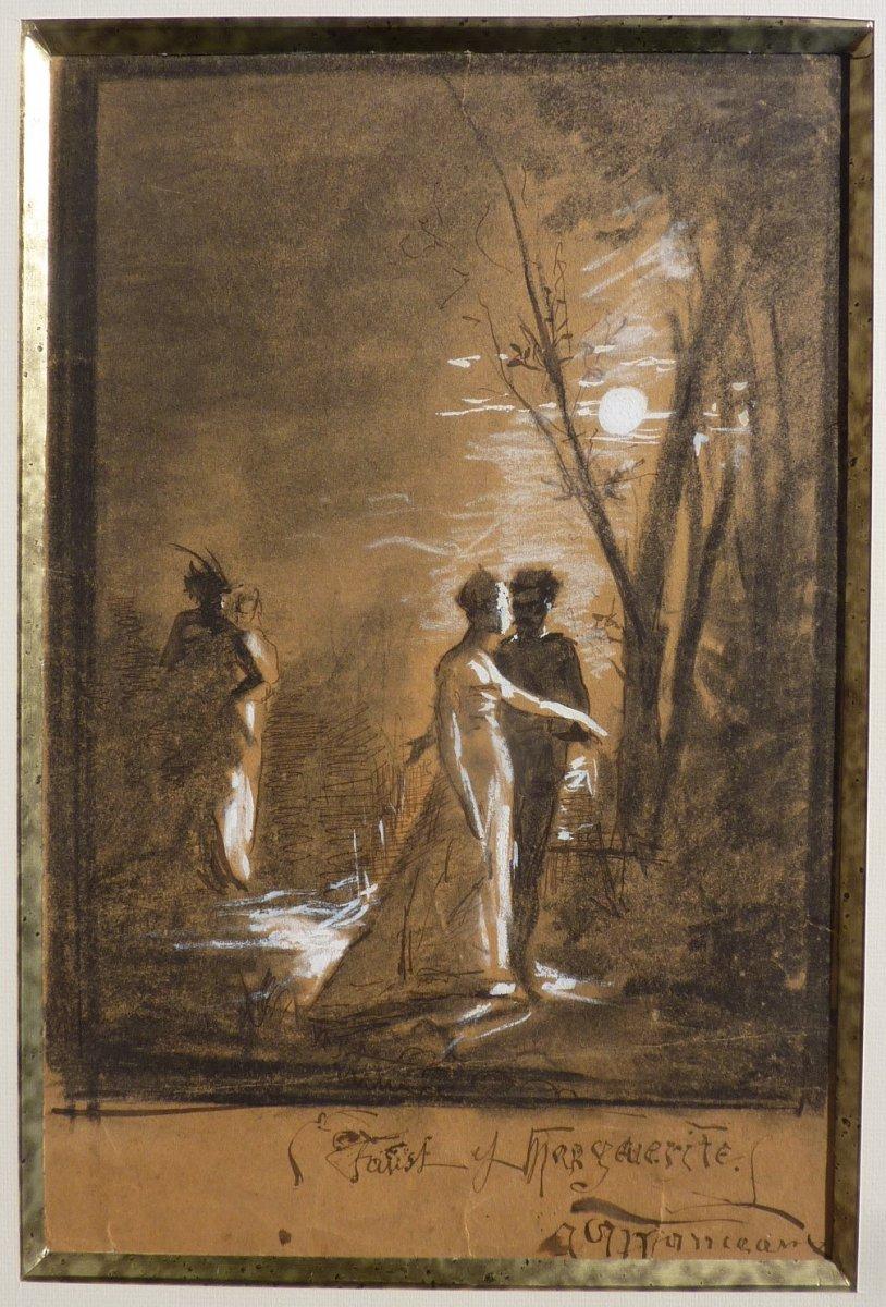 Antoine-louis Manceaux (1862-1939) Faust And Marguerite