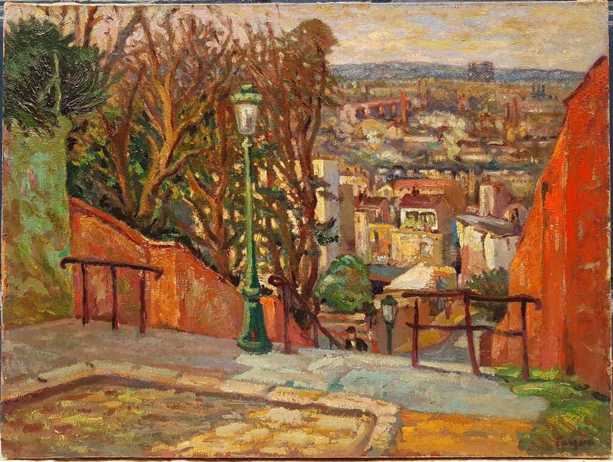 Léon-paul Fargue (1876-1947) Paris, View Of Montmartre