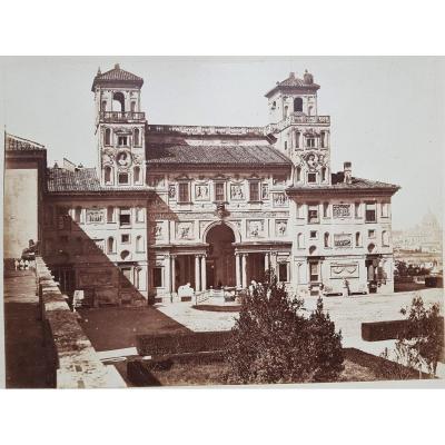 Rome  La Villa Médicis vers 1870
