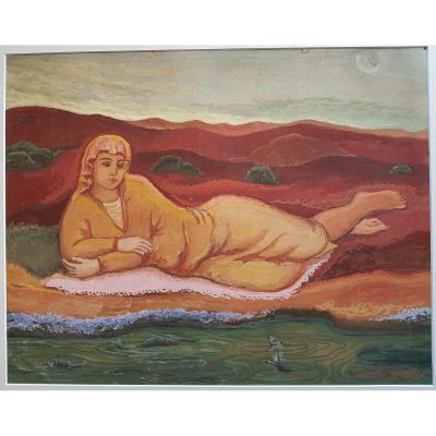 Dimitri Merinoff (1896-1971) Woman At The Water's Edge 1931