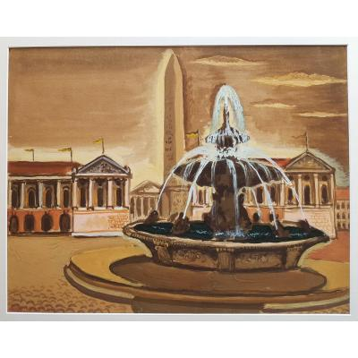 Dimitri Merinoff (1896-1971) Paris Place de la Concorde 1930