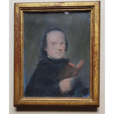 Man Holding An 18th Century Pastel Book