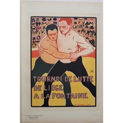 Armand Rassenfosse Wrestling Tournament In Liège 1899