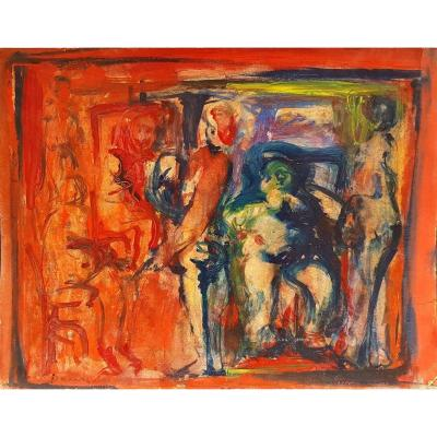 Bernard Damiano (1926-2000) Figures In The Studio