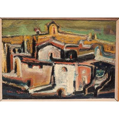 Hélène Martin (1912-2012) Village In Spain