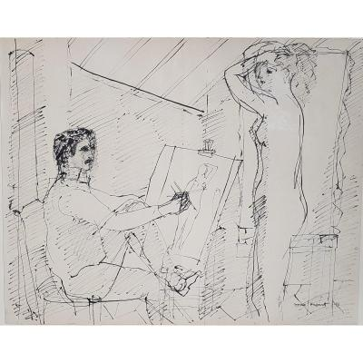 Max Papart (1911-1994) The Painter And His Model