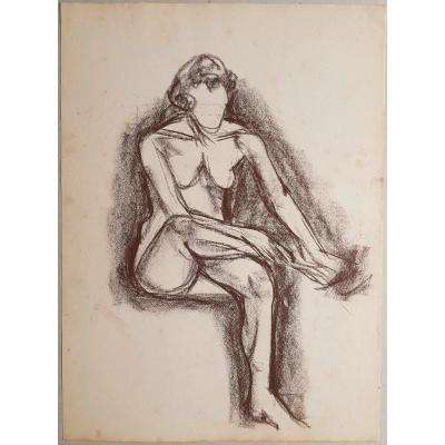 René Seyssaud (1867-1952) Seated Woman