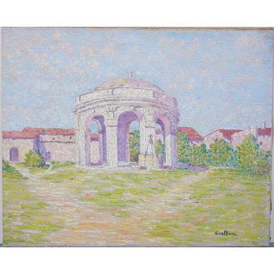 Henri Grallan (1861-1925) Villeneuve lès Avignon, la fontaine du cloître Saint-Jean
