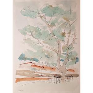 Max Papart (1911-1994)   Paysage à Aix en Provence