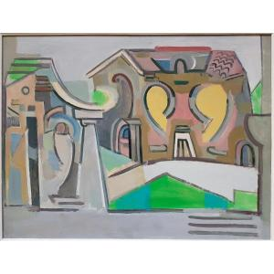 Walter Firpo (1903-2002)   Paysage Cubiste