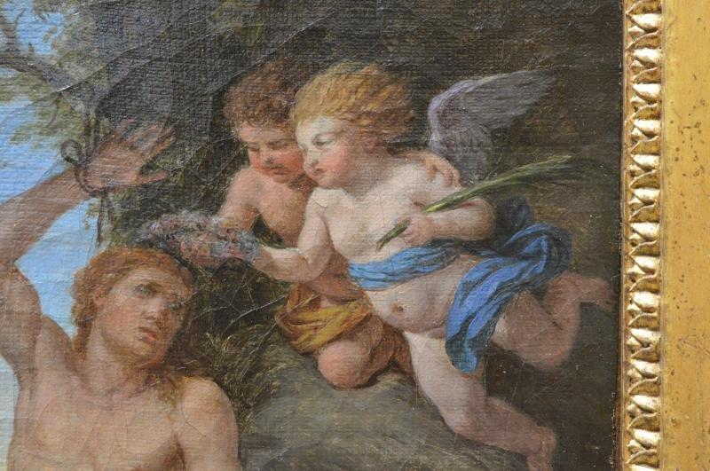 Louis-jean François Lagrenée, Two Angels Bringing A Crown To Saint-sébastien.-photo-2