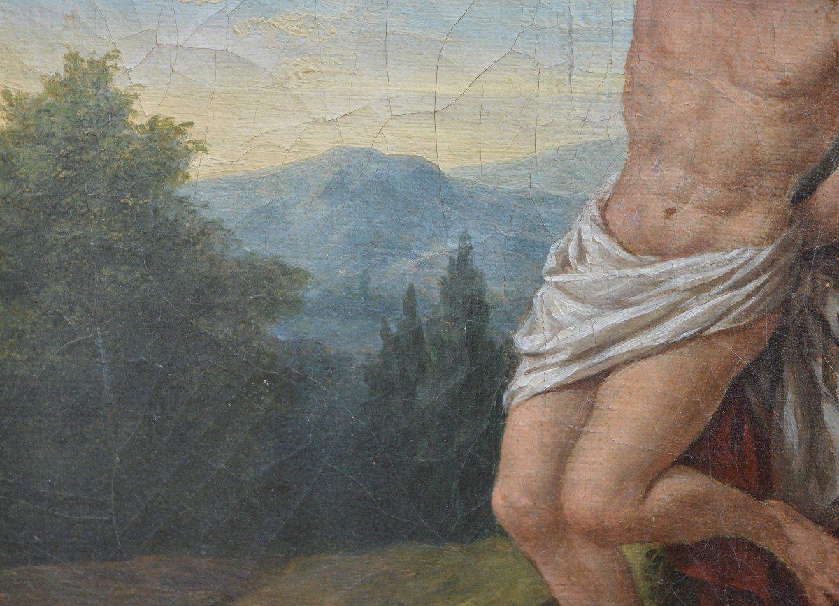 Louis-jean François Lagrenée, Two Angels Bringing A Crown To Saint-sébastien.-photo-1