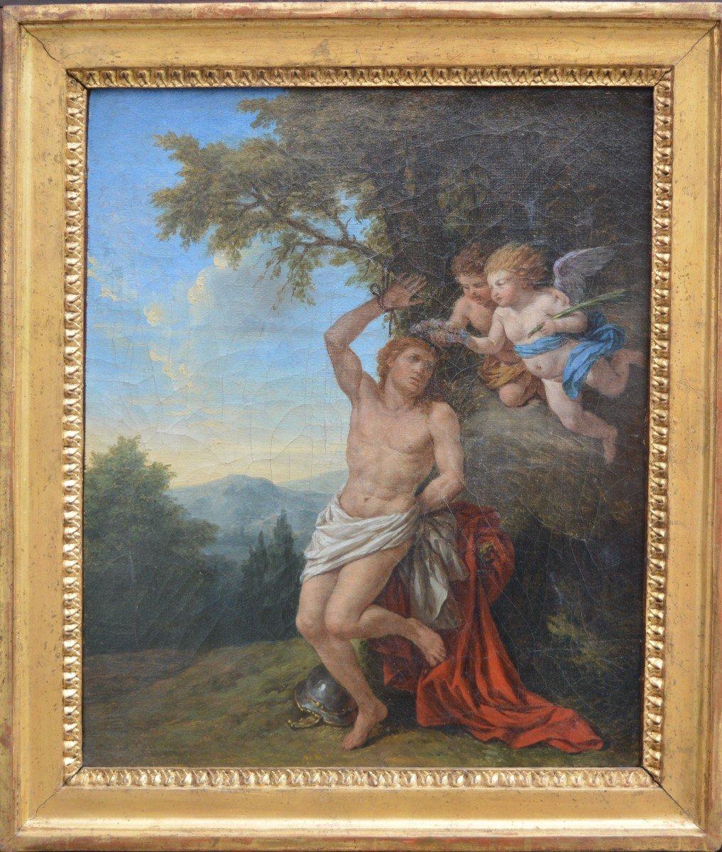Louis-jean François Lagrenée, Two Angels Bringing A Crown To Saint-sébastien.