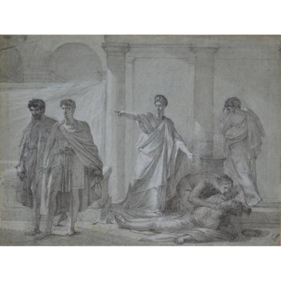 Drawing Attributed To Pierre-narcisse Guerin, Agrippine Et Néron.