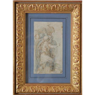 Dessin De Girolami Da Carpi (1501-1556). Soldats Romains.