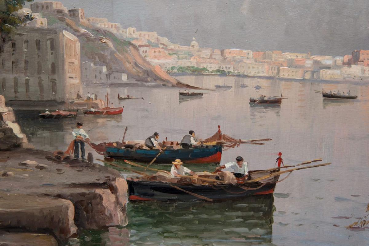 Vue De La Baie De Naples - Nicolas De Corsi-photo-3