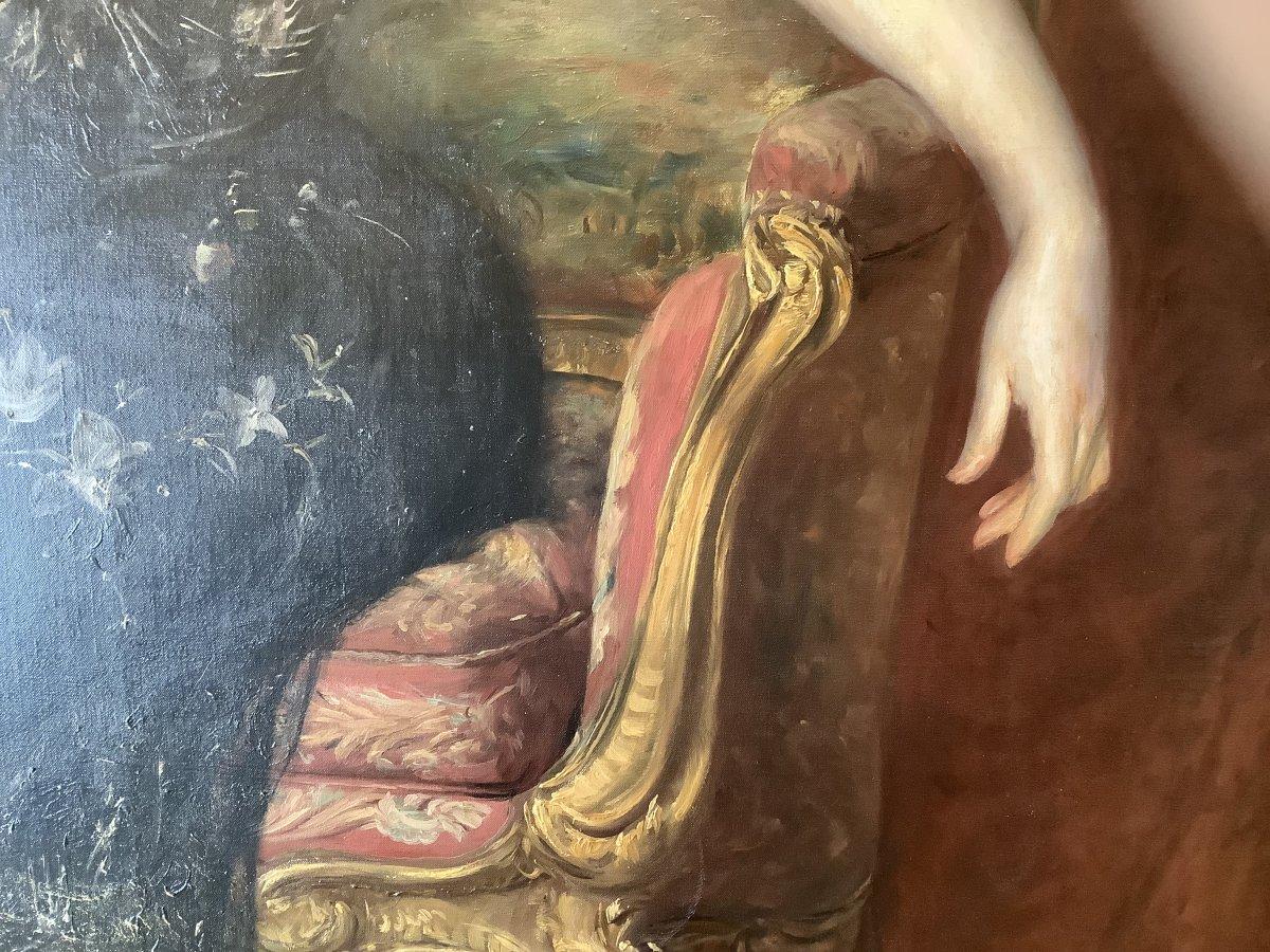 Painting Portrait By Àdolfo Felice Muller-ury (1862-1947)-photo-4