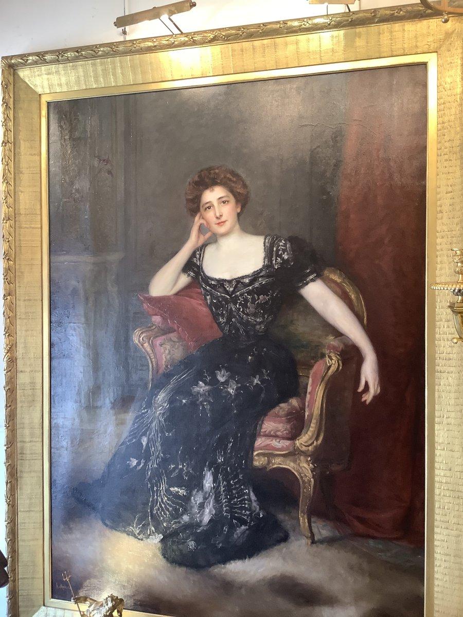 Tableau Portrait Par Àdolfo félice MULLER-URY(1862-1947)