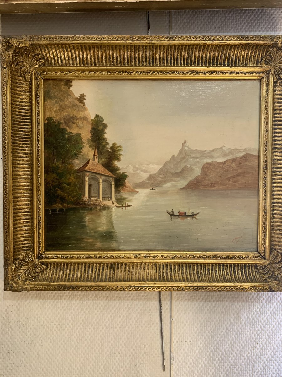 Pair Of Swiss School Paintings End 19 Eme Century