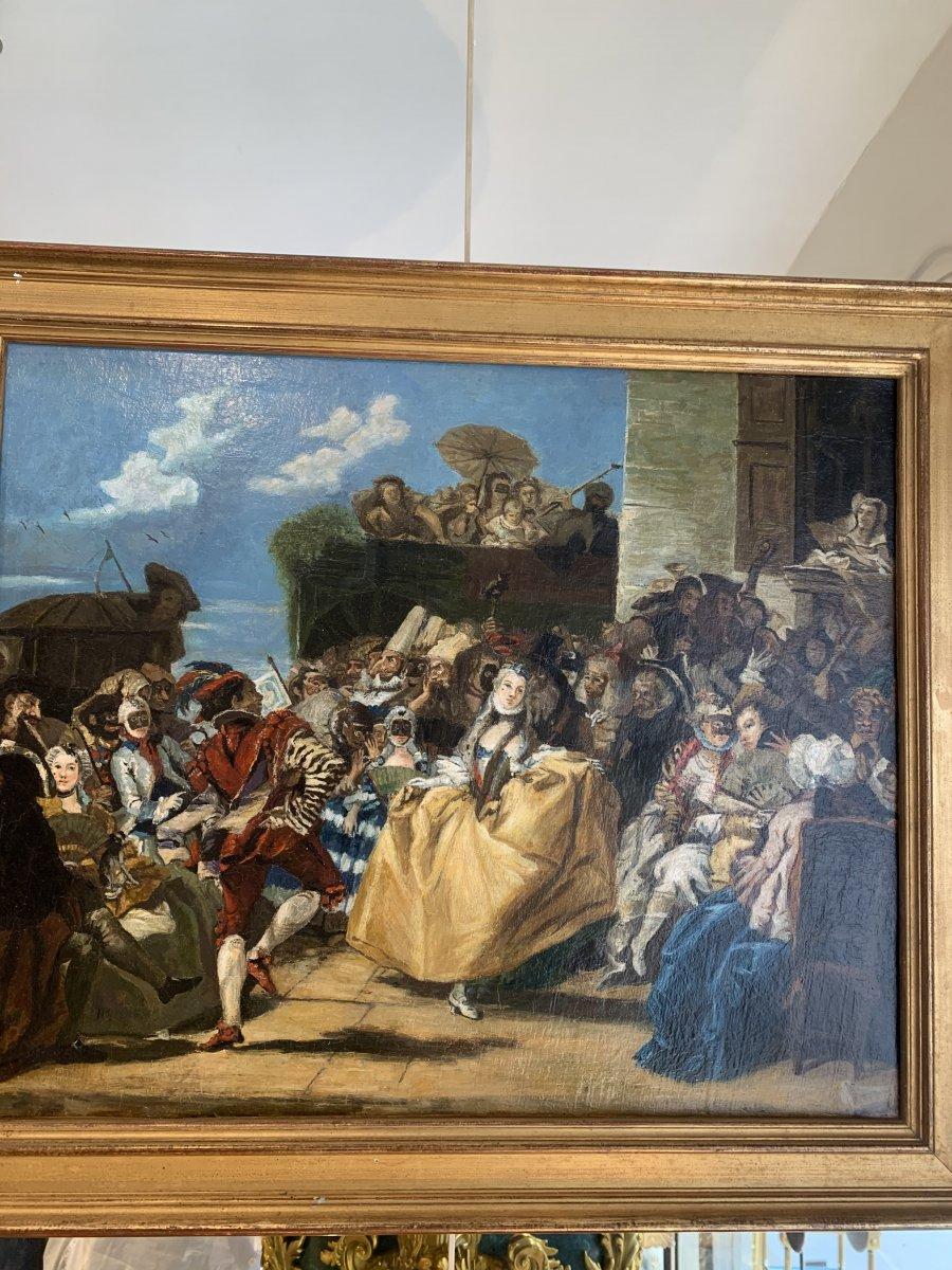 Tableau Suiveur De Pietro Longhi Peintre Italien Du 18 Eme Siècle