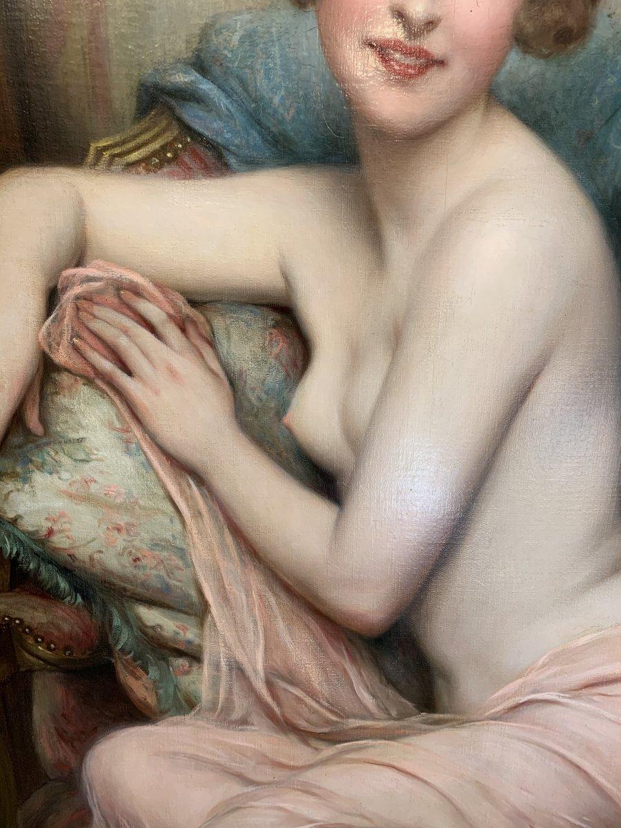 Tableau Portrait D Une élégante Par François Martin-kavel(1861-1931)