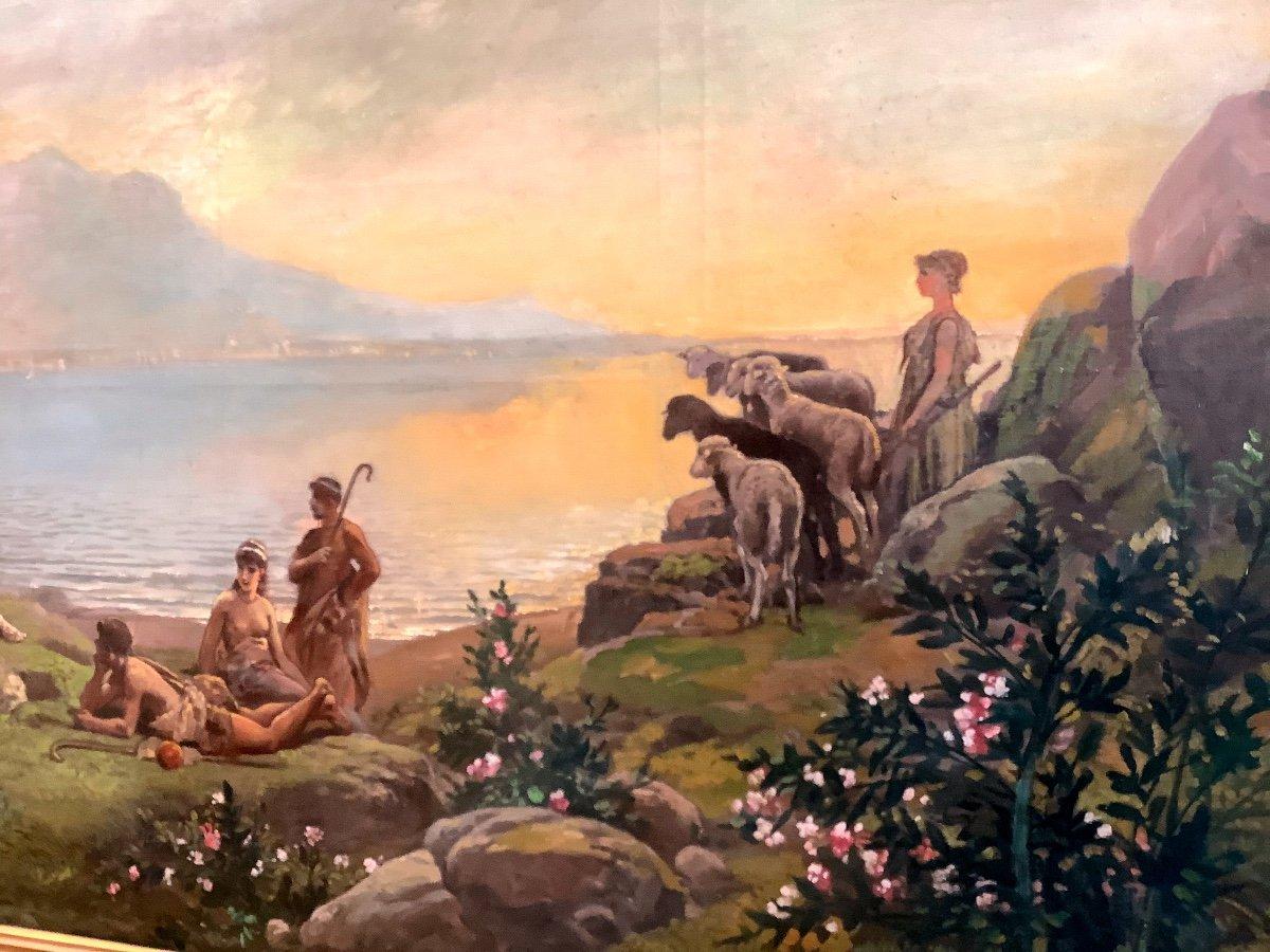 Tableau Paysage Par Théodore Levigne (1848-1912)-photo-4