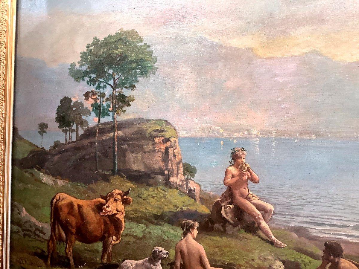 Tableau Paysage Par Théodore Levigne (1848-1912)-photo-1