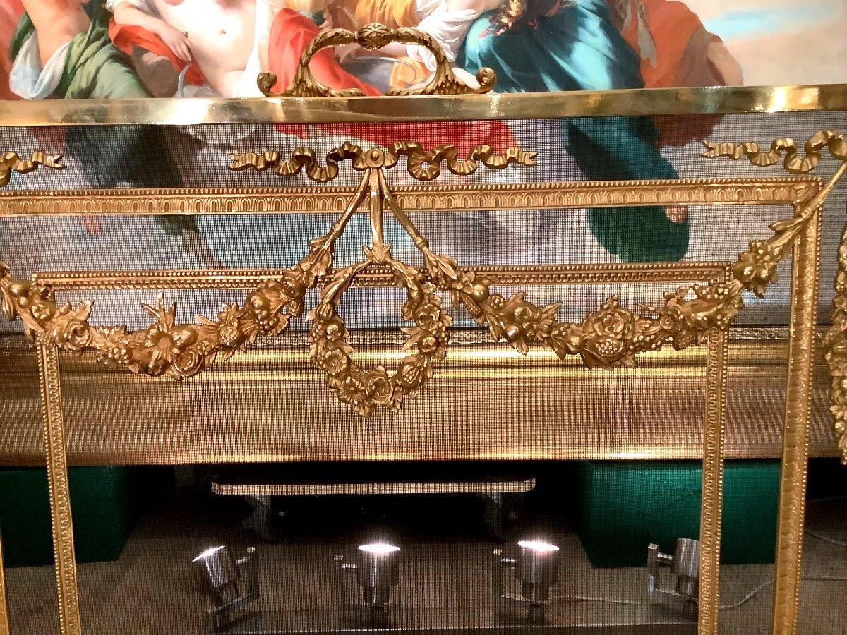 Louis XVI Style Fireplace Screen D 19 Eme-photo-2