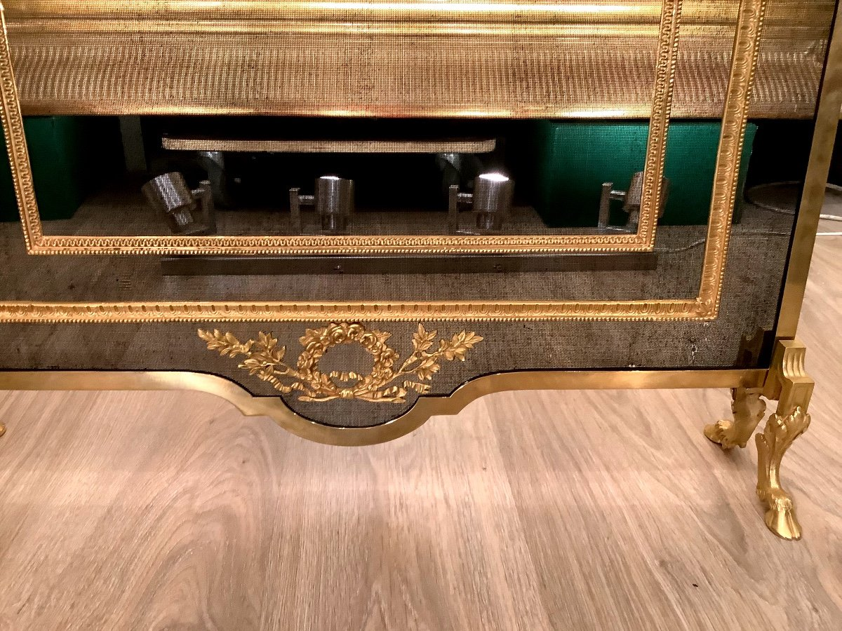 Louis XVI Style Fireplace Screen D 19 Eme-photo-3