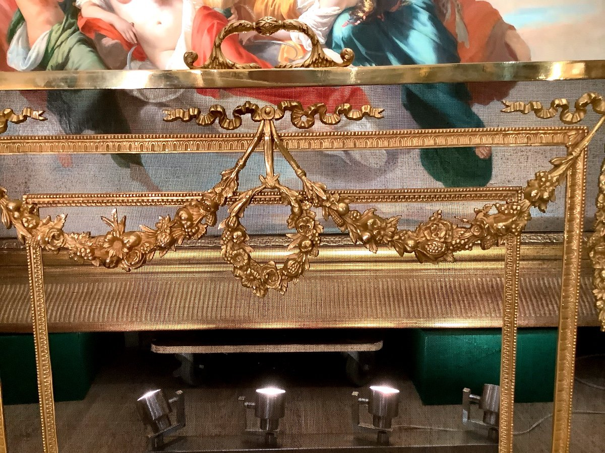 Louis XVI Style Fireplace Screen D 19 Eme-photo-4