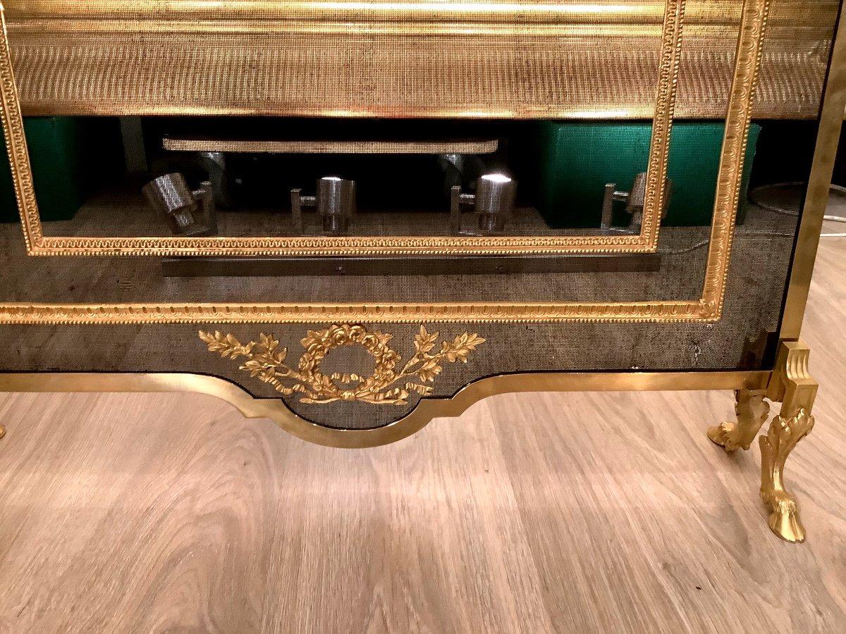 Louis XVI Style Fireplace Screen D 19 Eme-photo-1