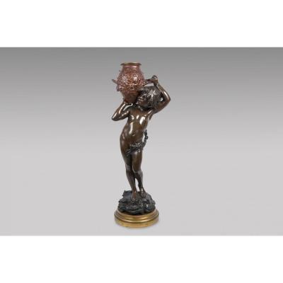 """""""L'enfant à la Jarre"""" Bronze - Auguste Moreau"""
