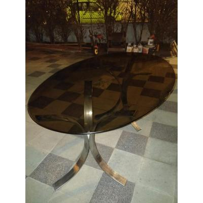 Table In Silver Metal 1970