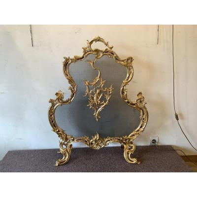 Firewall Gilt Bronze Louis XV Style