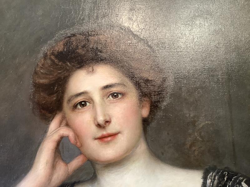 Tableau Portrait Par Àdolfo félice MULLER-URY(1862-1947)-photo-3