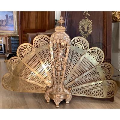 Pare Feu En Bronze Doré Style Louis XVI