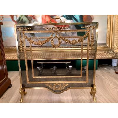 Pare Feu De Cheminée De Style Louis XVI D époque 19 Eme