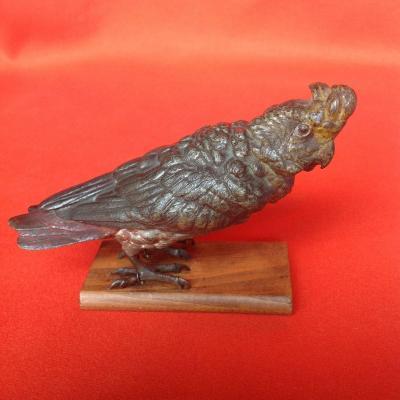Bronze de Vienne, Perroquet Cacatoès