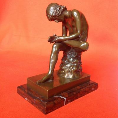 Le Tireur d'Épine ou Le Spinario, Bronze par F. Barbedienne Fondeur