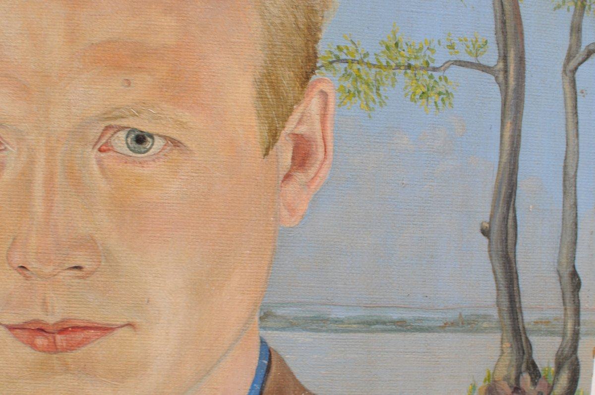 Portrait d'homme , monogrammé J.G.