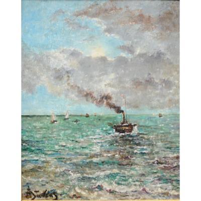 Alfred Stevens - Huile Sur Panneau