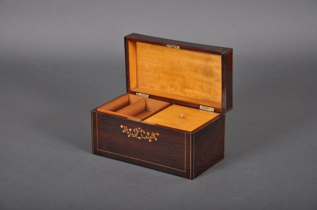 Coffret à cigares et tabac d'époque Charles X en palissandre.-photo-2