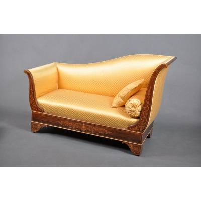 Charles X Period Chaise Longue In Rosewood