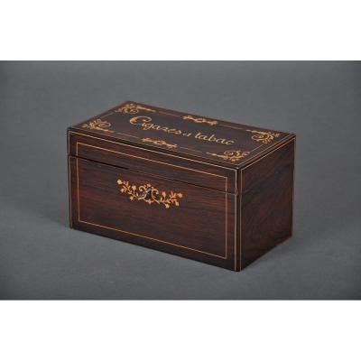 Box Cigar And Tobacco Charles X In Rosewood.