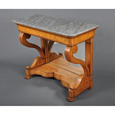 Charles X Period Console In Maple.