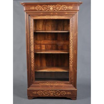 Charles X Period Display Cabinet In Rosewood.