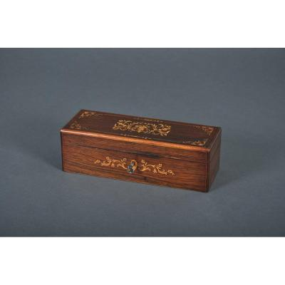 Charles X - Louis-philippe Period Box In Rosewood.