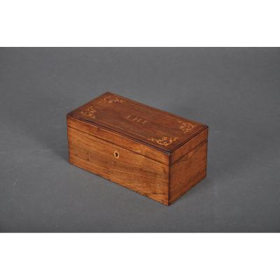Charles X - Louis-philippe Period Tea Box In Rosewood.