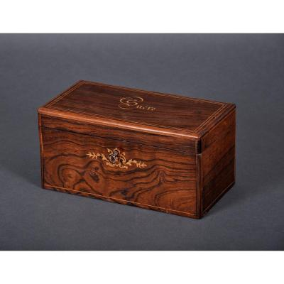 Charles X - Louis-philippe Period Sugar Box In Rosewood.